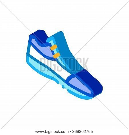 Volleyball Shoes Sneakers Icon Vector. Isometric Volleyball Shoes Sneakers Sign. Color Isolated Symb