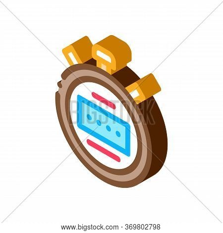 Stopwatch Icon Vector. Isometric Stopwatch Sign. Color Isolated Symbol Illustration