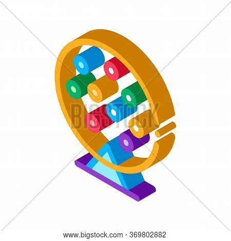 Lottery Drum Icon Vector. Isometric Lottery Drum Sign. Color Isolated Symbol Illustration