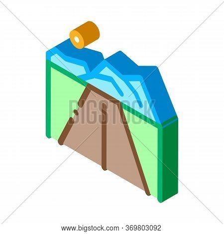 Iceberg Icon Vector. Isometric Iceberg Sign. Color Isolated Symbol Illustration