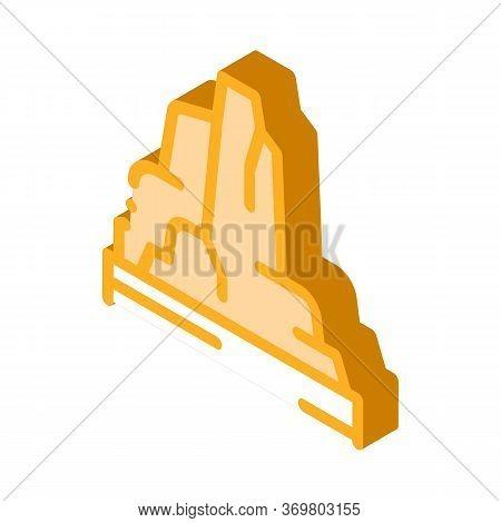 Mountain Skyscrapers Icon Vector. Isometric Mountain Skyscrapers Sign. Color Isolated Symbol Illustr