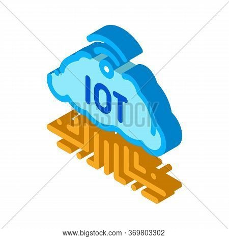 Internet Of Things Icon Vector. Isometric Internet Of Things Sign. Color Isolated Symbol Illustratio