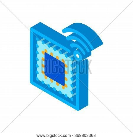 Microchip Icon Vector. Isometric Microchip Sign. Color Isolated Symbol Illustration