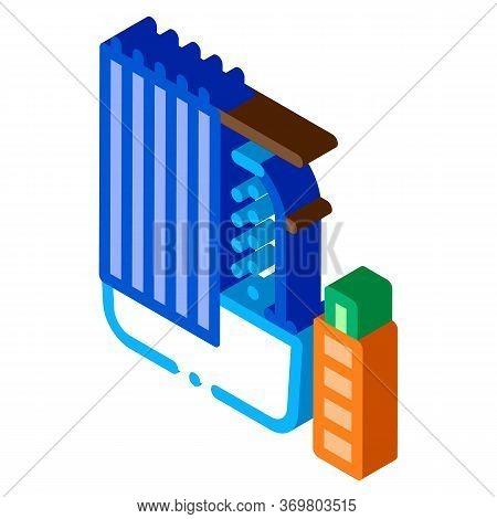 Bathroom Icon Vector. Isometric Bathroom Sign. Color Isolated Symbol Illustration