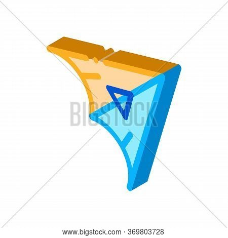 Hang Glider Icon Vector. Isometric Hang Glider Sign. Color Isolated Symbol Illustration