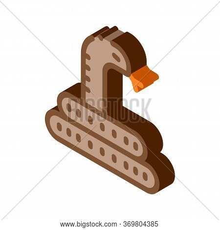 Desert Snake Icon Vector. Isometric Desert Snake Sign. Color Isolated Symbol Illustration
