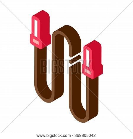 Jump Rope Icon Vector. Isometric Jump Rope Sign. Color Isolated Symbol Illustration
