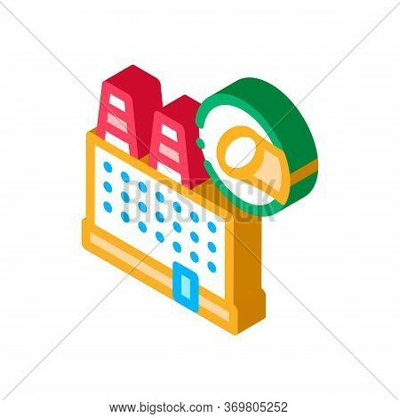 Sugar Factory Icon Vector. Isometric Sugar Factory Sign. Color Isolated Symbol Illustration
