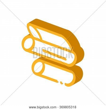 Sliced Canes Icon Vector. Isometric Sliced Canes Sign. Color Isolated Symbol Illustration