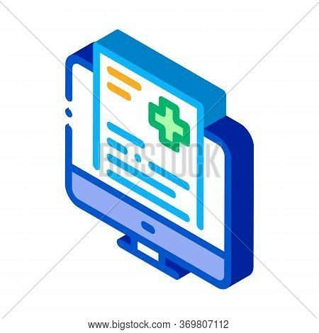 Online Receipt Icon Vector. Isometric Online Receipt Sign. Color Isolated Symbol Illustration