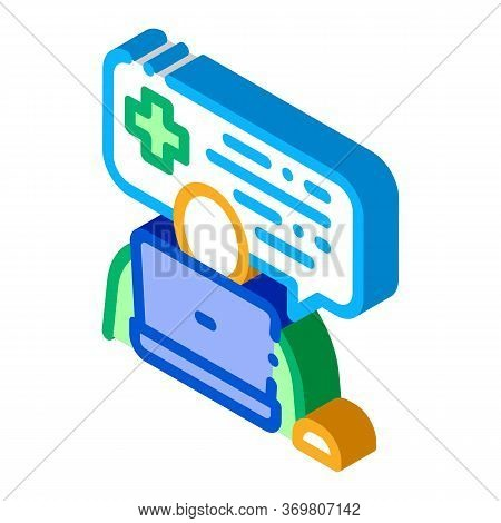 Online Diagnosis Icon Vector. Isometric Online Diagnosis Sign. Color Isolated Symbol Illustration