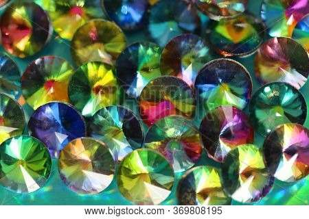 Wallpaper Phone Shining Bead. Multicolored Iridescent Shining Beads Background .flickering Colorful