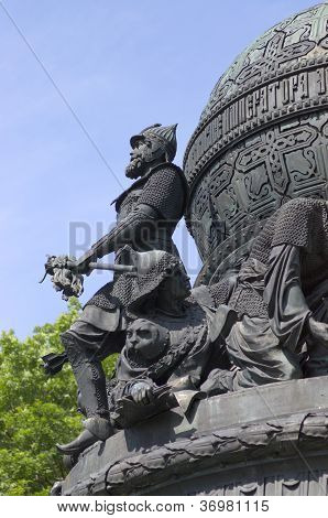 Historical monument in Novgorod, Russia