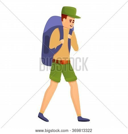 Young Explorer Icon. Cartoon Of Young Explorer Vector Icon For Web Design Isolated On White Backgrou