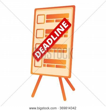 Office Board With Deadline Icon. Cartoon Of Office Board With Deadline Vector Icon For Web Design Is