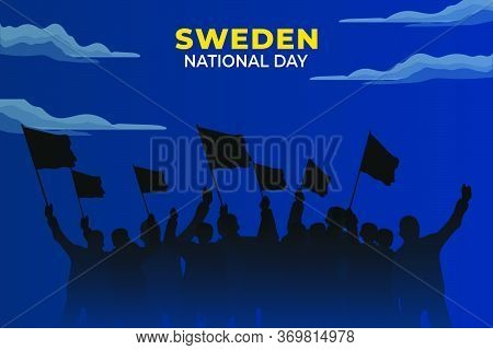 Sveriges Nationaldag (translate: Sweden National Day). Happy National Holiday. Celebrated Annually O
