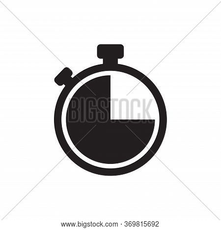 Stopwatch Icon Isolated On White Background. Stopwatch Icon In Trendy Design Style For Web Site And