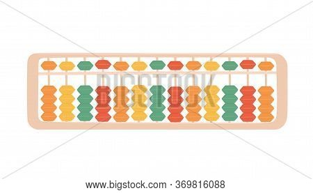 Abacus Soroban For Learning Mental Arithmetic For Kids. Symbol Of The Japanese System Of Mental Math