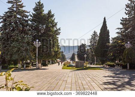 Gori, Georgia, October 13, 2019 : View Of The Stalin Park In The Stalin Museum In Gori In Georgia