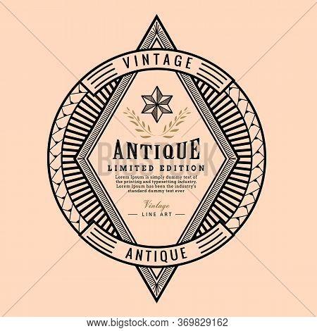 Old School Badges Vintage Frame Western Retro Label Vector