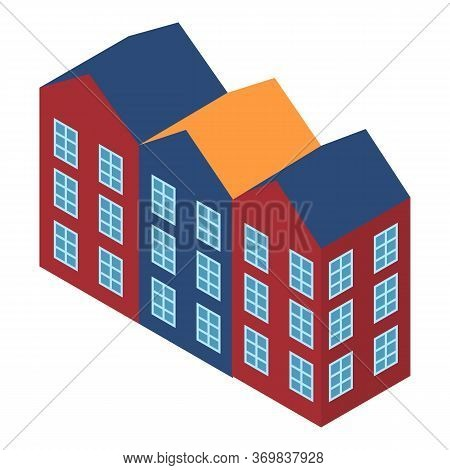 European Building Icon. Isometric Illustration Of European Building Vector Icon For Web