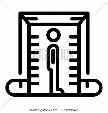 Metal Detector Icon. Outline Metal Detector Vector Icon For Web Design Isolated On White Background