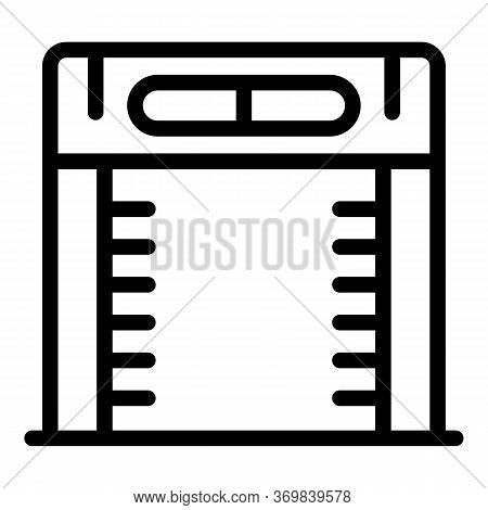 Access Metal Detector Icon. Outline Access Metal Detector Vector Icon For Web Design Isolated On Whi