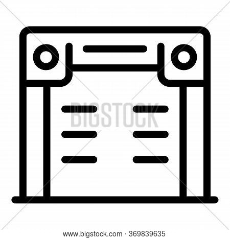 Alarm Metal Detector Icon. Outline Alarm Metal Detector Vector Icon For Web Design Isolated On White