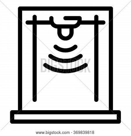 Wireless Metal Detector Icon. Outline Wireless Metal Detector Vector Icon For Web Design Isolated On