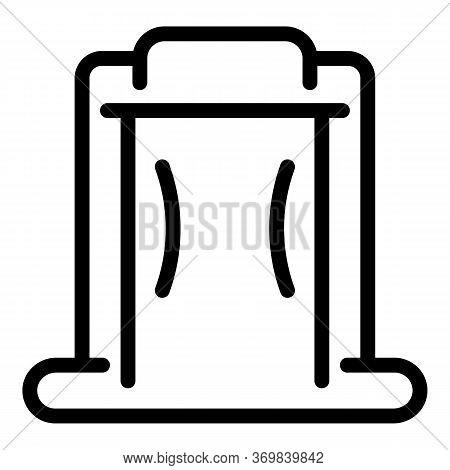 Metal Detector Equipment Icon. Outline Metal Detector Equipment Vector Icon For Web Design Isolated