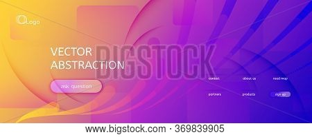 Fluid Abstract. Flow Movement. 3d Lines Pattern. Curve Dynamic Wallpaper. Colorful Technology Illust