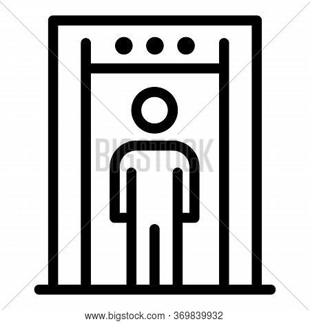 Security Metal Detector Icon. Outline Security Metal Detector Vector Icon For Web Design Isolated On