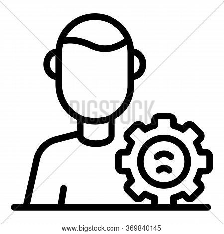 Modern Radio Engineer Icon. Outline Modern Radio Engineer Vector Icon For Web Design Isolated On Whi