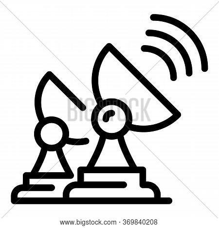 Ground Radio Antenna Icon. Outline Ground Radio Antenna Vector Icon For Web Design Isolated On White