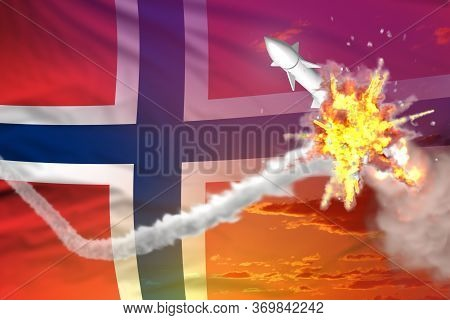 Norway Intercepted Supersonic Warhead, Modern Antirocket Destroys Enemy Missile Concept, Military In