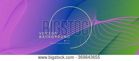 Flow Geometric Abstract. Color Futuristic Shape Movement. Colorful Business Pattern. Memphis Gradien