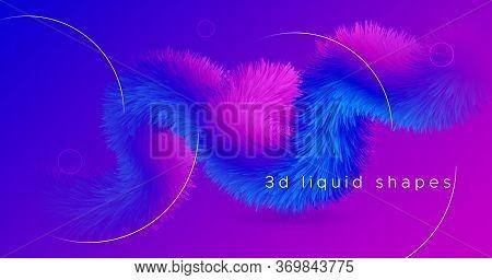 Blue Wave Futuristic Liquid. Color Modern Design. Fluid Dynamic Pattern. Pink Geometric Motion. Blue