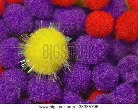 Yellow Shiny Foam Ball