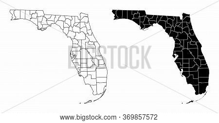The Black And White Florida State County Maps