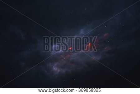 Red And Blue Starfield In Space. Elements Of This Image Furnished By Nasa