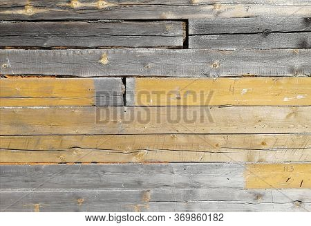 Blockhouse Of A Building.  Fragment.  Textural Background.  Front View.