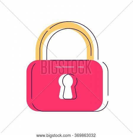 Locker Icon, Vector Padlock Symbol. Key Lock Illustration Privacy And Password Icon. Safety And Secu