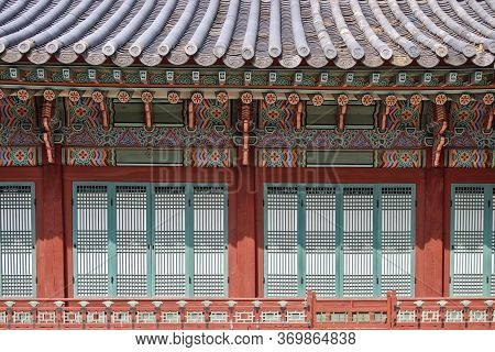 The Magnificent Layout Of The Gyeonggi Palace Is One Of The Five Important Palaces In Korea.