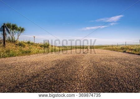 Landscape Of National Park Zona De Interes Regional Llanos De Caceres Y Sierra De Fuentes In Extrema