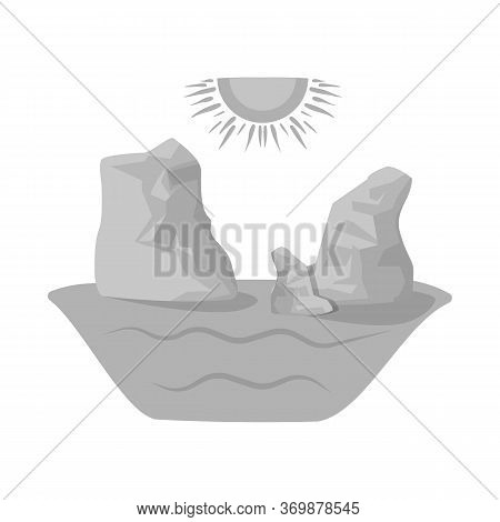 Vector Illustration Of Rock And Bay Symbol. Collection Of Rock And Vietnamese Stock Vector Illustrat