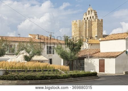 Small Church In The Town Of Saintes-maries-de-la-mer In Southern France