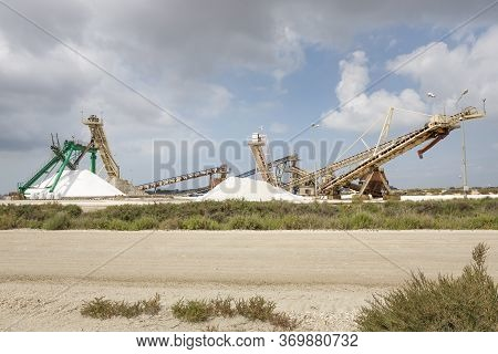 Producing Salt In The Camargue District, Southern France