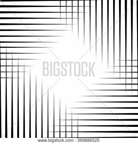 Oblique Sharp Lines Background, Diagonal Lines Edgy Pattern. Modern Decoration Eps10 Vector.
