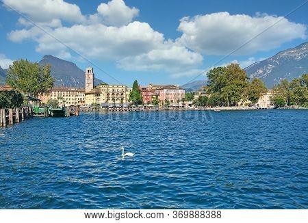Village Of Riva Del Garda At Lake Garda,italy