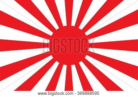 Japanese Imperial Flag Vector Isolated Design Illustration. Abstract Japanese Imperial Vector Flag .